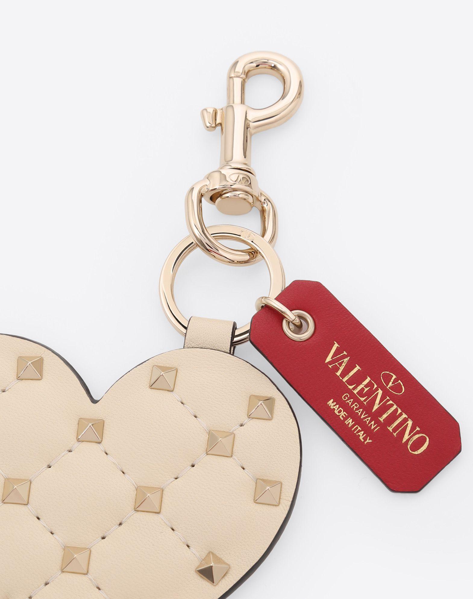 Valentino Valentino Garavani Rockstud Spike heart keychain Wholesale Price Cheap Online U7IpZ