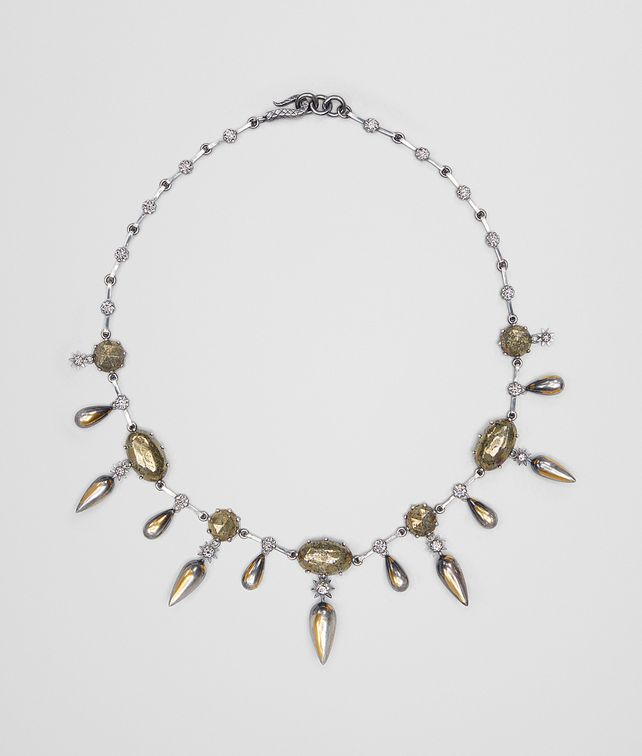 BOTTEGA VENETA NATURAL ANTIQUE SILVER STELLULAR NECKLACE Necklace [*** pickupInStoreShipping_info ***] fp