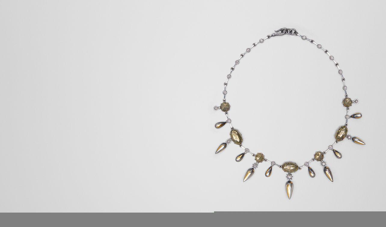 collier stellular en argent antique natural landing