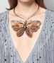 BOTTEGA VENETA MULTICOLOR ANTIQUE SILVER BUTTERFLY NECKLACE Necklace Woman ap