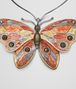 BOTTEGA VENETA MULTICOLOR ANTIQUE SILVER BUTTERFLY NECKLACE Necklace Woman rp