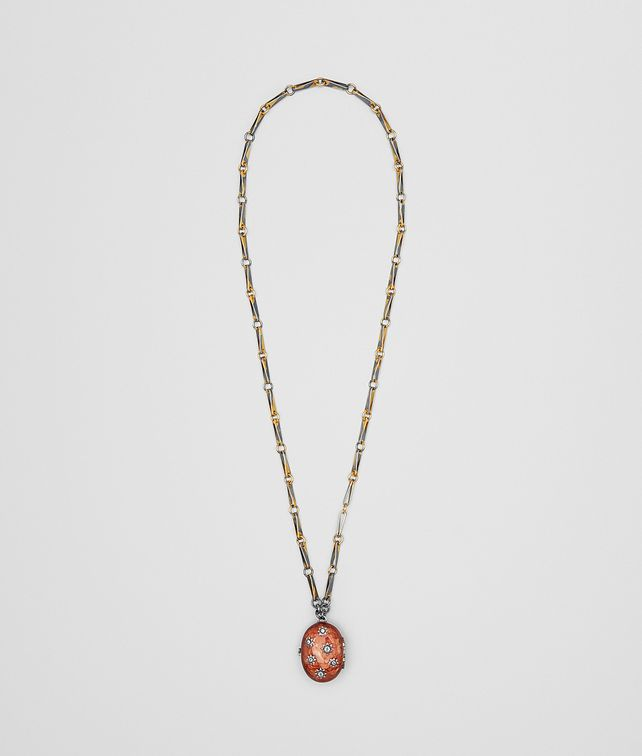 BOTTEGA VENETA BROWN ANTIQUE SILVER STELLULAR NECKLACE Other Jewelry [*** pickupInStoreShipping_info ***] fp
