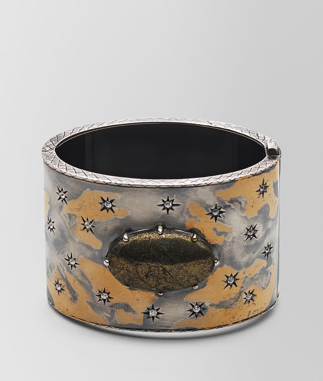 BOTTEGA VENETA NATURAL ANTIQUE SILVER STELLULAR CUFF Bracelet [*** pickupInStoreShipping_info ***] fp