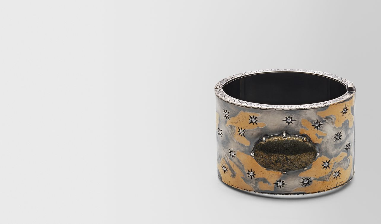 natural antique silver stellular cuff landing