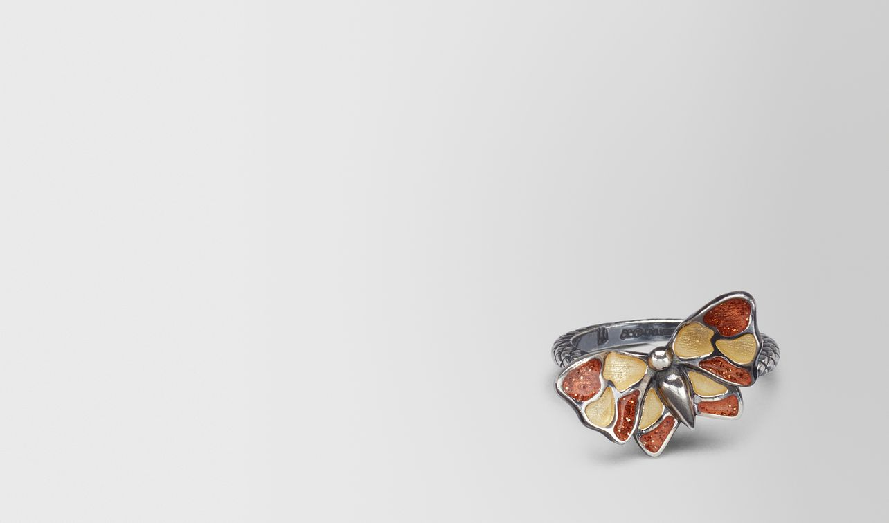 multicolor antique silver butterfly ring landing