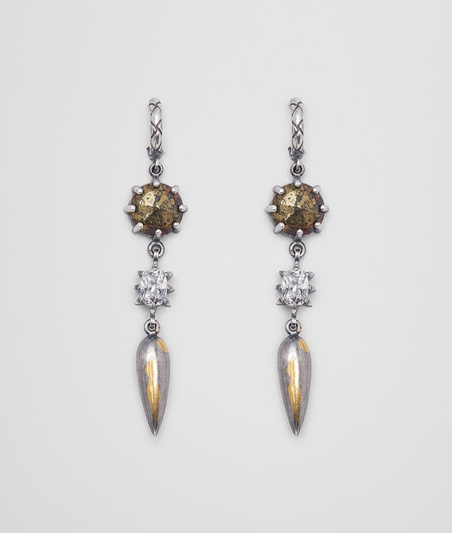 BOTTEGA VENETA NATURAL ANTIQUE SILVER STELLULAR EARRINGS Earrings [*** pickupInStoreShipping_info ***] fp