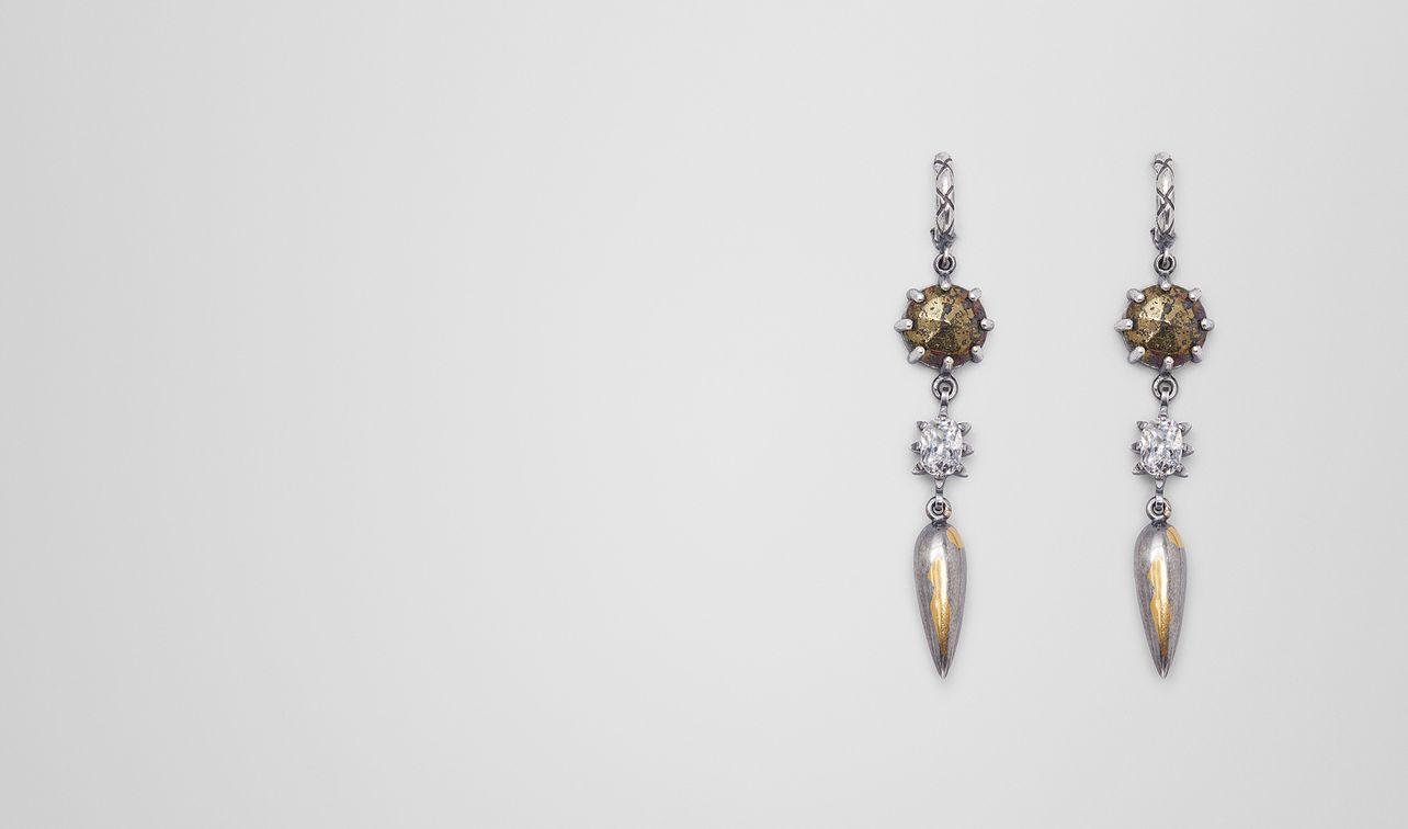 boucles d'oreilles stellular en argent antique natural landing