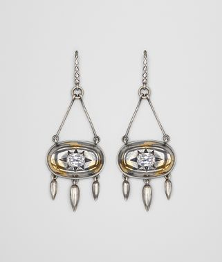 NATURAL ANTIQUE SILVER STELLULAR EARRINGS