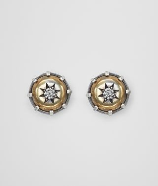 NATURAL ANTIQUE SILVER STELLULAR STUD EARRINGS