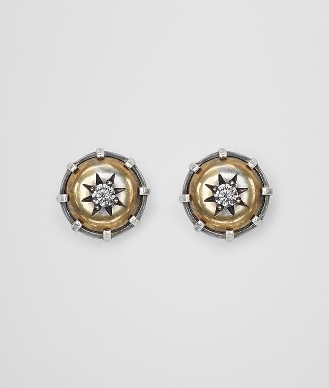 BOTTEGA VENETA NATURAL ANTIQUE SILVER STELLULAR STUD EARRINGS Earrings [*** pickupInStoreShipping_info ***] fp