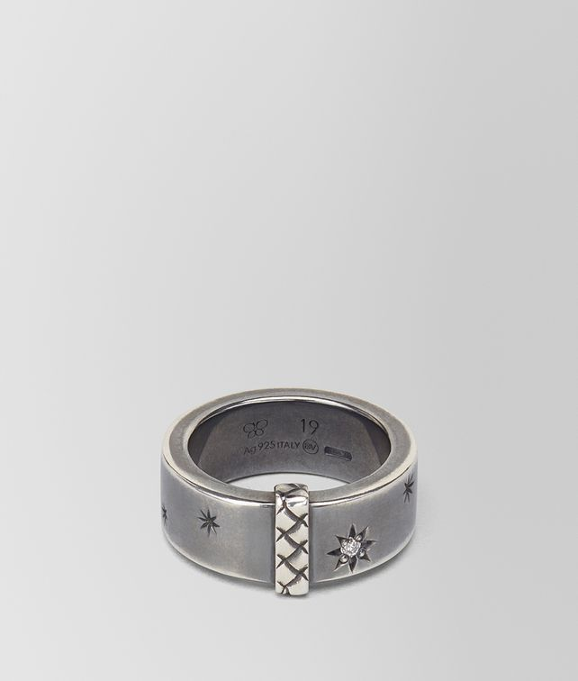 BOTTEGA VENETA NATURAL ANTIQUE SILVER STELLULAR RING Ring Man fp