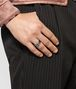 BOTTEGA VENETA BROWN ANTIQUE SILVER STELLULAR RING Ring Man ap