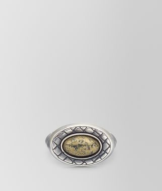 NATURAL ANTIQUE SILVER STELLULAR RING