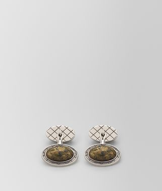 NATURAL ANTIQUE SILVER STELLULAR CUFFLINKS