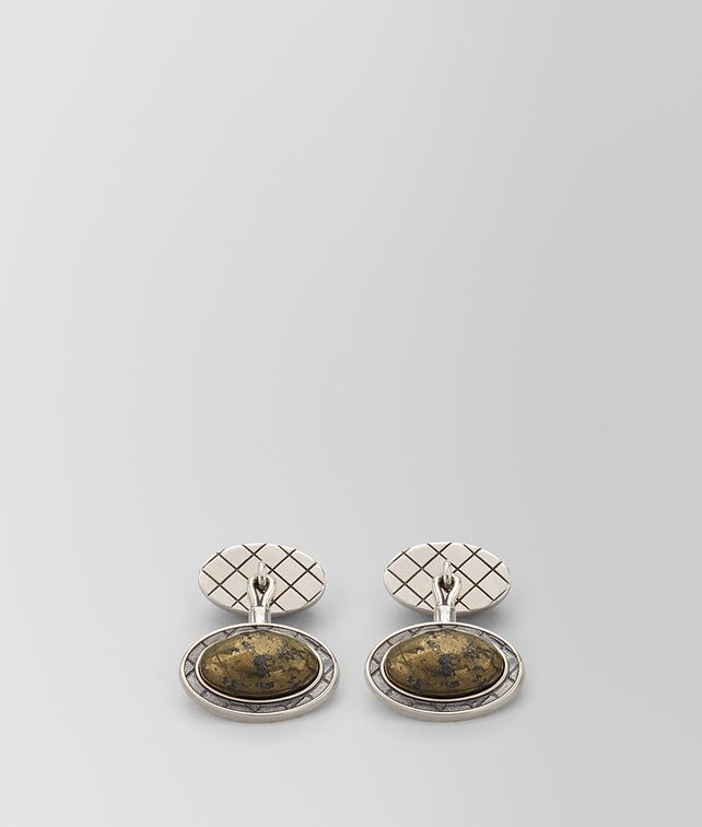 BOTTEGA VENETA NATURAL ANTIQUE SILVER STELLULAR CUFFLINKS Other Jewelry [*** pickupInStoreShippingNotGuaranteed_info ***] fp