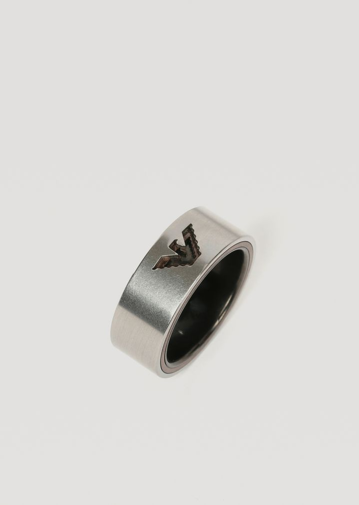 fd734d42a850 Stainless steel ring with logo