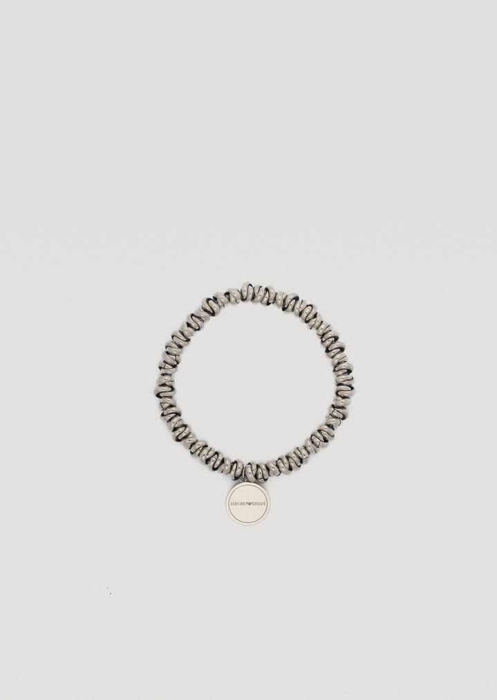 9062fdf10f72 Pulsera de acero inoxidable con logotipo | Mujer | Emporio Armani
