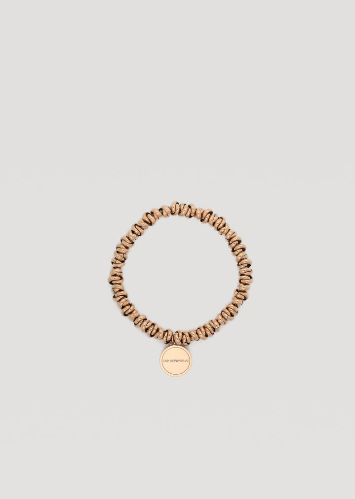 81e9e43632 Bracelet in rose gold plated stainless steel with logo | Woman ...
