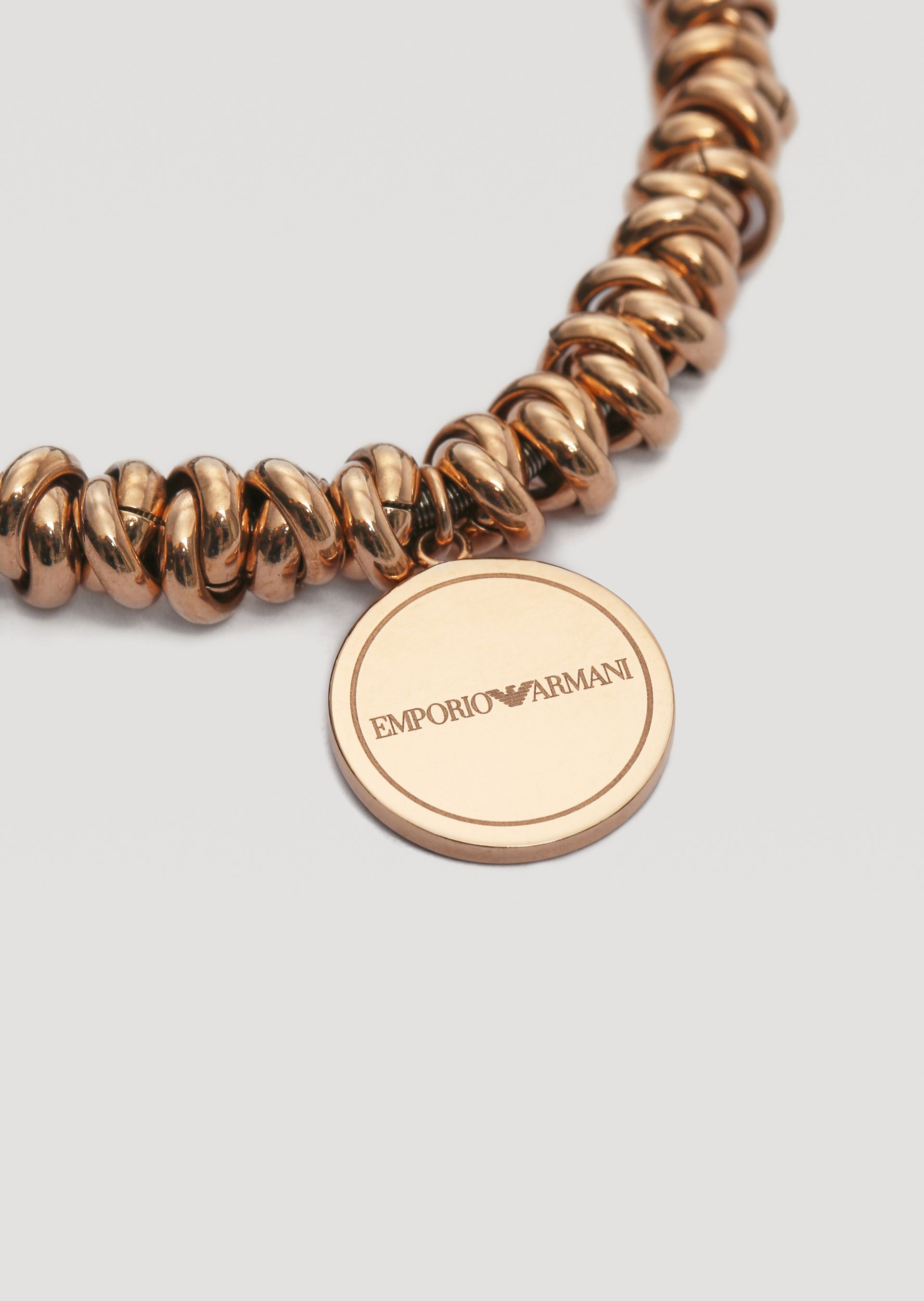 6ef783c040 Bracelet In Rose Gold Plated Stainless Steel With Logo for Women ...