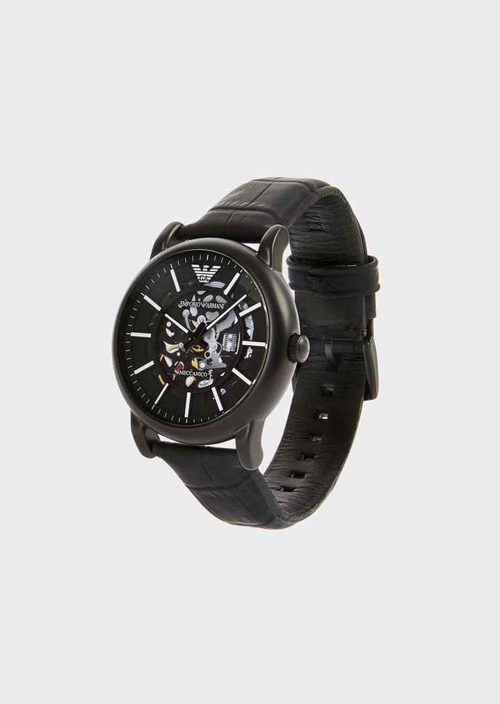 Leather Strap Watch   Man   Emporio Armani b4b8be845ec
