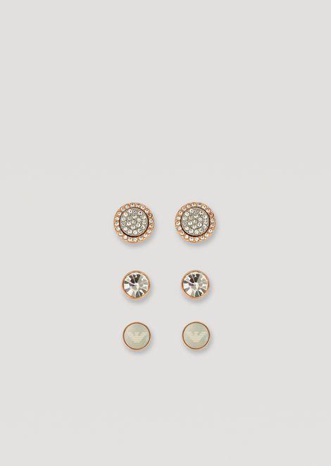 3af0be331047 Geschenkset mit vier Paar Ohrringen aus Edelstahl