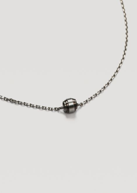 Necklace in stainless steel with pendant