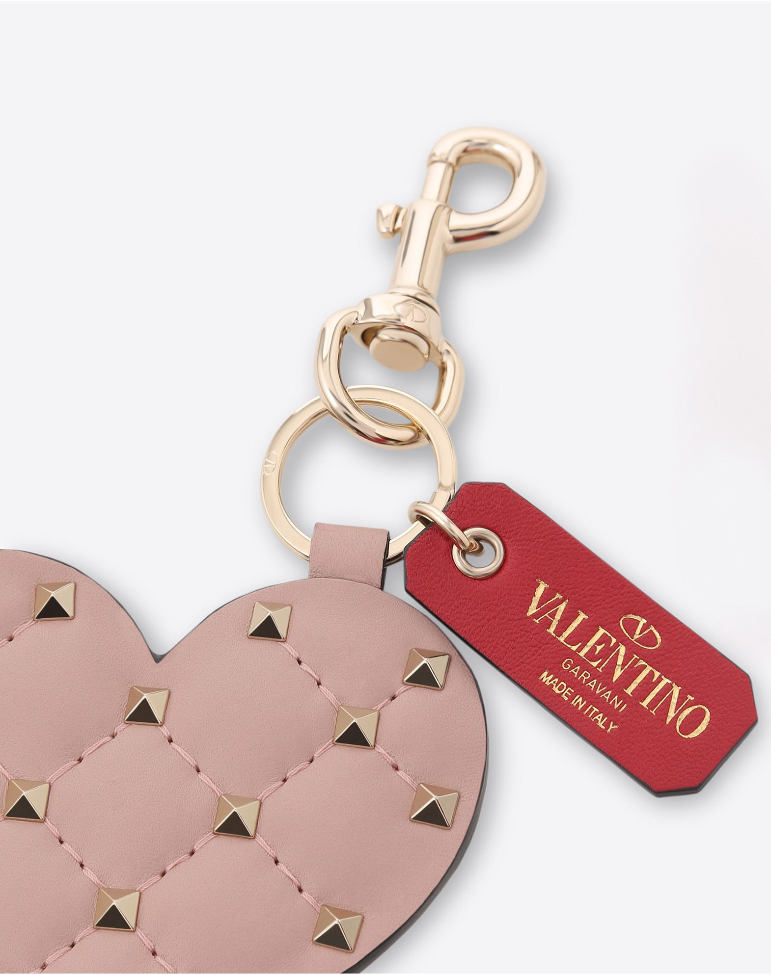 Valentino Garavani Rockstud Spike heart keychain - Pink & Purple Valentino 80FX2jlDe