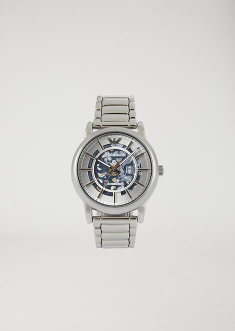 Man automatic stainless steel watch