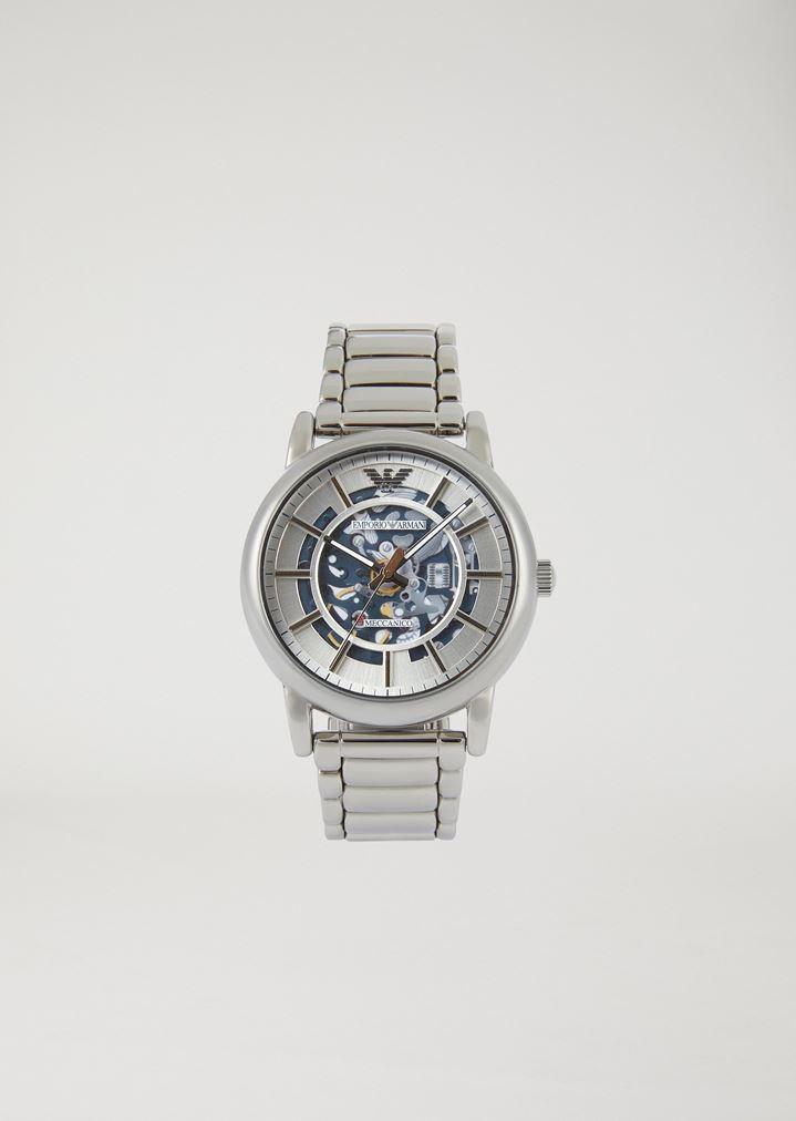 68e5547d4209 Reloj automático de acero inoxidable 60006