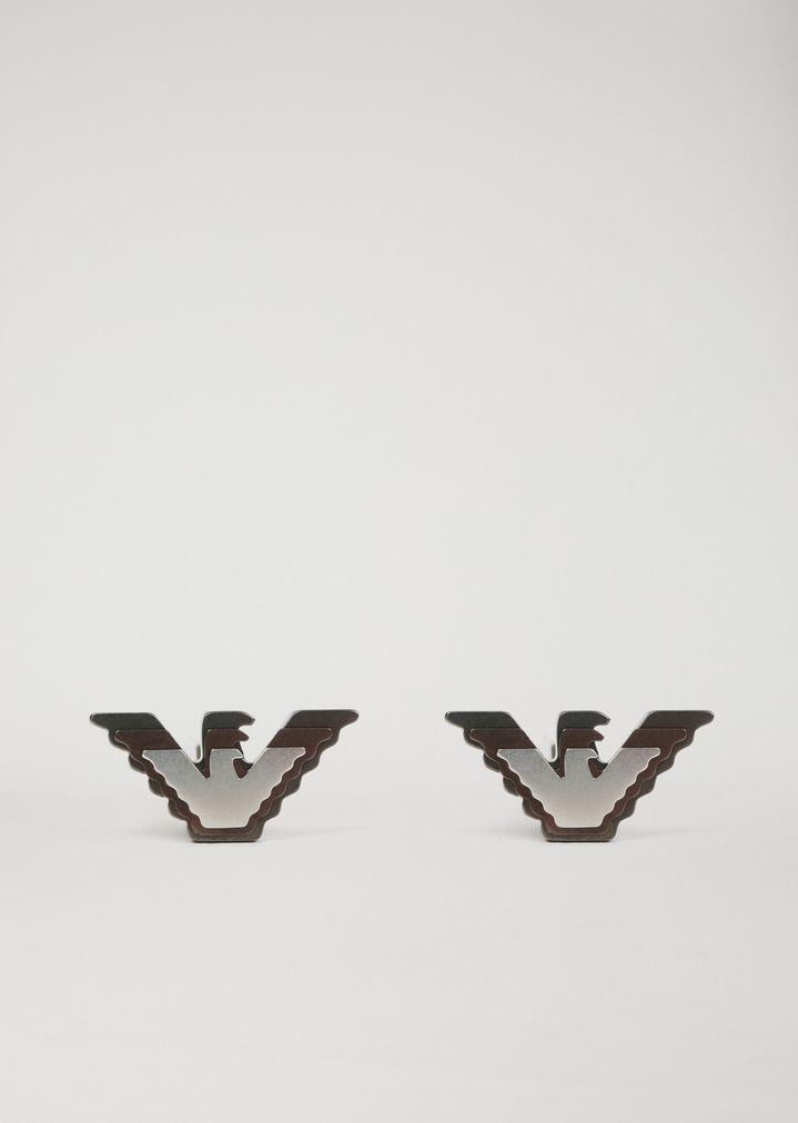 in stock cheapest latest design Manschettenknöpfe aus Edelstahl | Herren | Emporio Armani