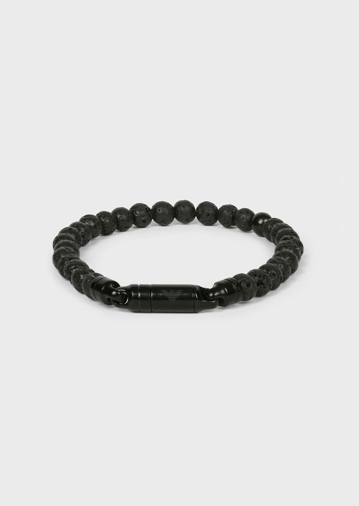 EMPORIO ARMANI Bracelet with stainless steel beads Bracelet Man f