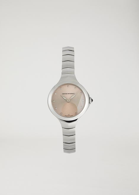 Women's Swiss Made Fluid Deco Two-Hand Watch