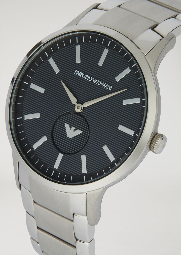 EMPORIO ARMANI Stainless steel watch 11118 Steel Strap Watch Man a