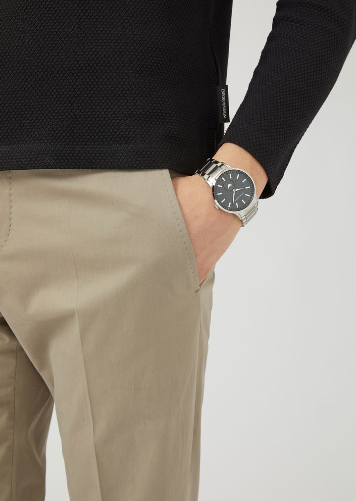 EMPORIO ARMANI Stainless steel watch 11118 Steel Strap Watch Man b