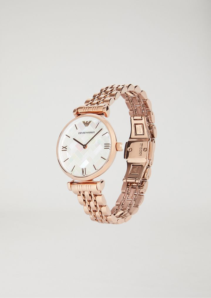 classic style many fashionable new arrivals Uhr aus Edelstahl mit Beschichtung aus Roségold 11110 ...