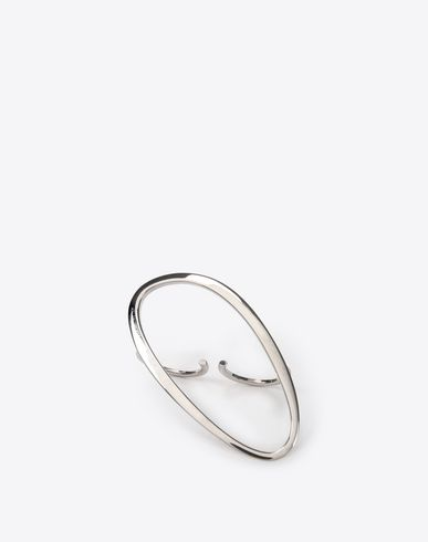 MAISON MARGIELA Two-finger empty oval ring Ring D f