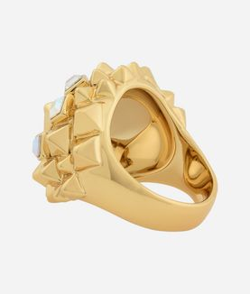 KARL LAGERFELD PYRAMID CLUSTER RING