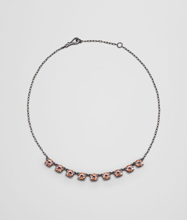BOTTEGA VENETA BROWN CUBIC ZIRCONIA SILVER NECKLACE Necklace [*** pickupInStoreShipping_info ***] fp