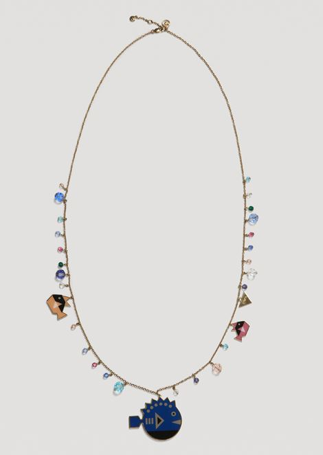 Necklace with Cyber Waterworld charm