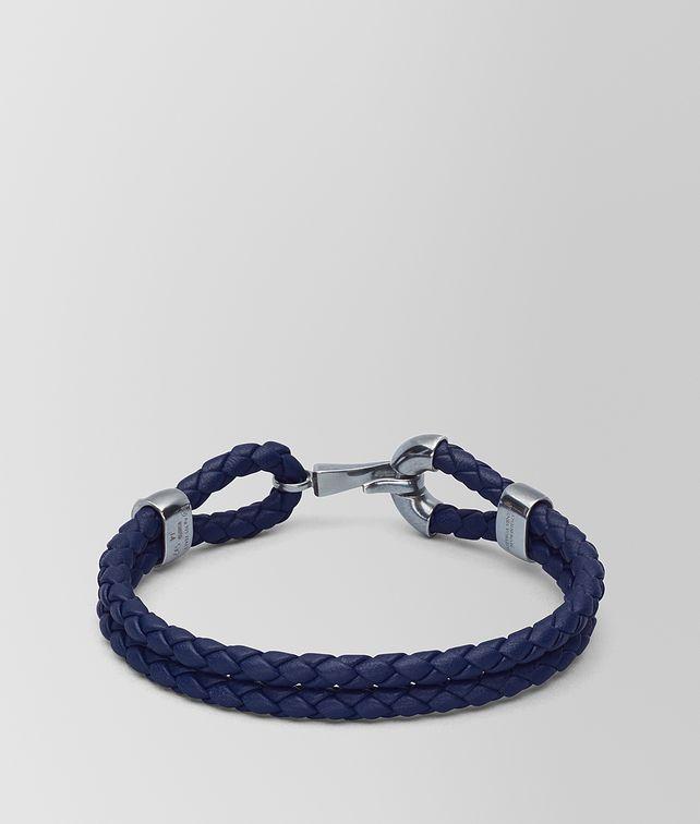 BOTTEGA VENETA ATLANTIC LEATHER/OXIDIZED SILVER BRACELET Bracelet Man fp