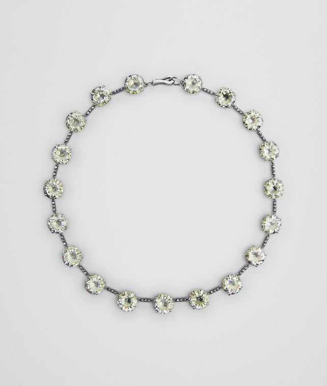 BOTTEGA VENETA CHAMOMILE CUBIC ZIRCONIA/OXIDIZED SILVER NECKLACE Necklace [*** pickupInStoreShipping_info ***] fp