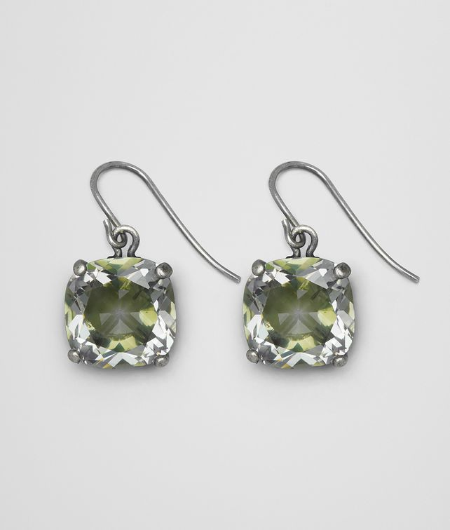 BOTTEGA VENETA CHAMOMILE CUBIC ZIRCONIA/OXIDIZED SILVER EARRINGS Earrings [*** pickupInStoreShipping_info ***] fp