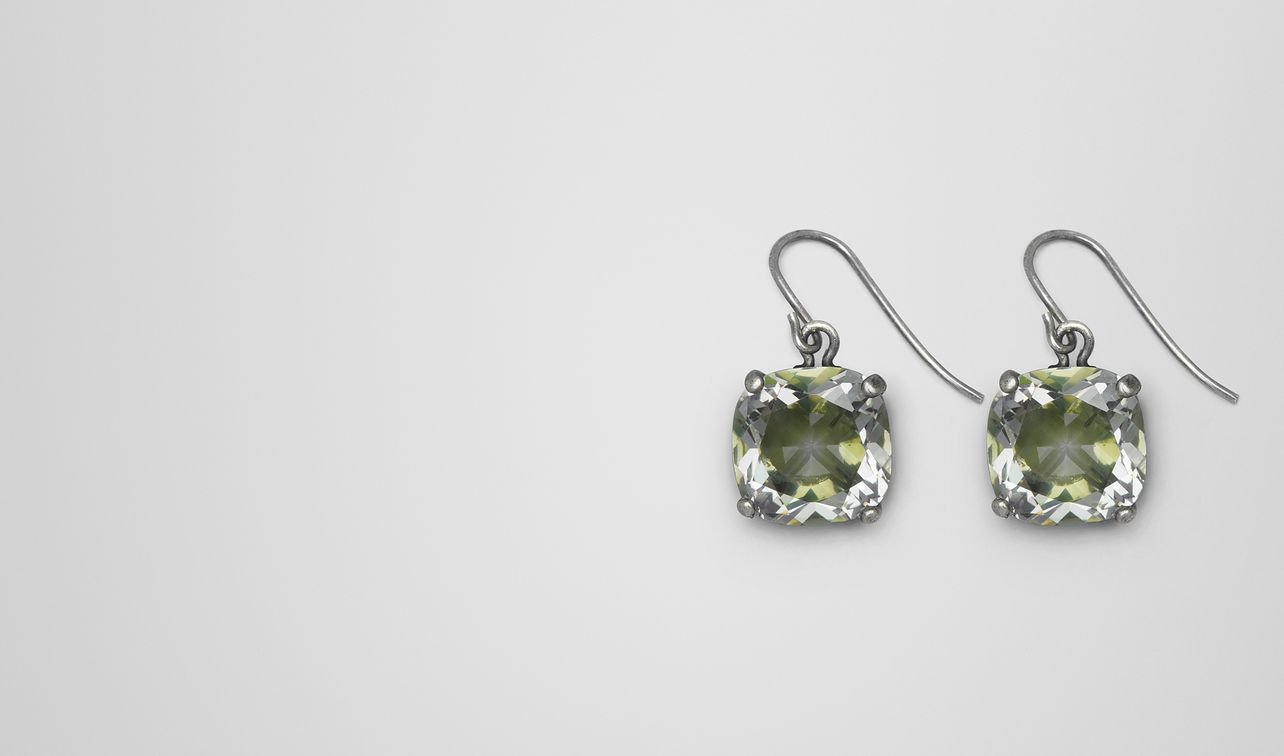 chamomile cubic zirconia/oxidized silver earrings landing