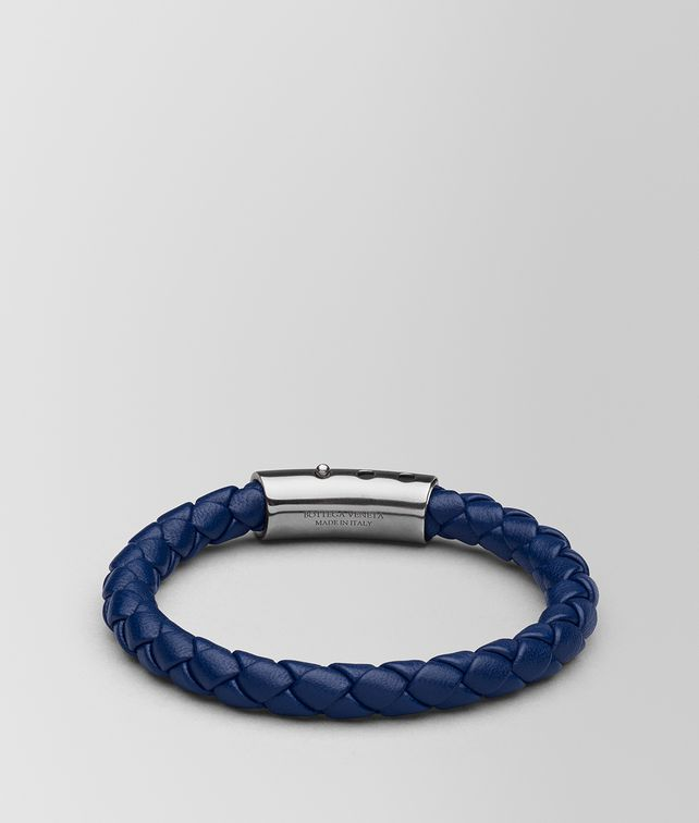 BOTTEGA VENETA ATLANTIC LEATHER/OXIDIZED SILVER BRACELET Bracelet Man fp