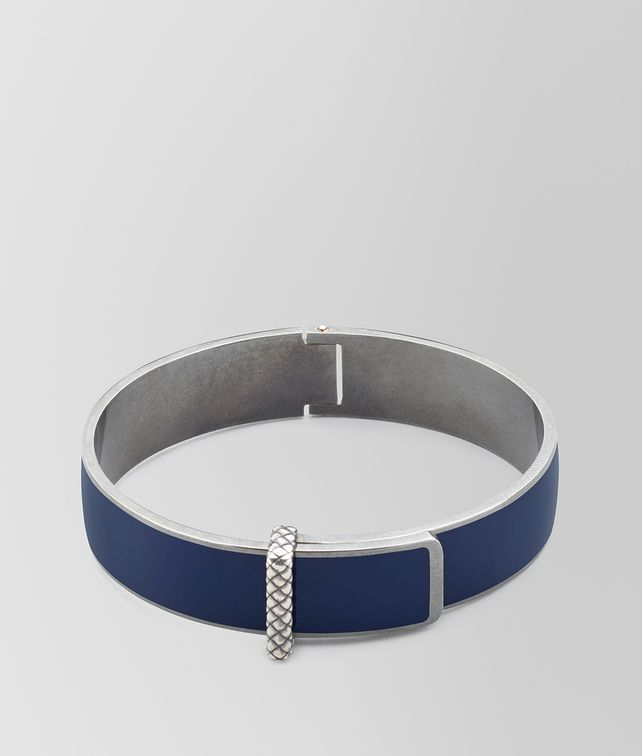 BOTTEGA VENETA BRACCIALE IN ARGENTO OSSIDATO E SMALTO ATLANTIC Bracciale [*** pickupInStoreShipping_info ***] fp
