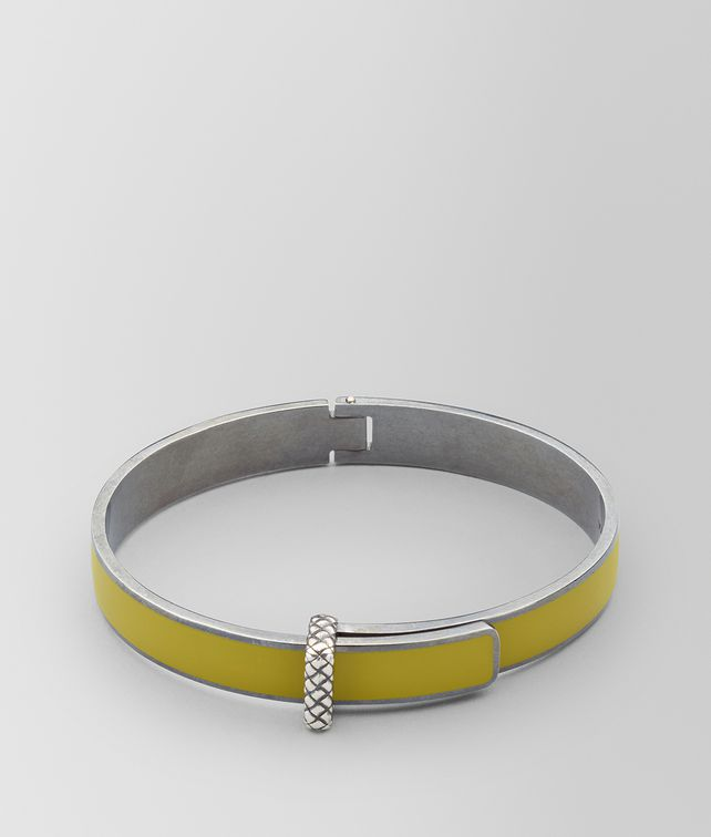 BOTTEGA VENETA BRACELET EN ARGENT OXYDÉ/ÉMAIL CHAMOMILE Bracelet Femme fp