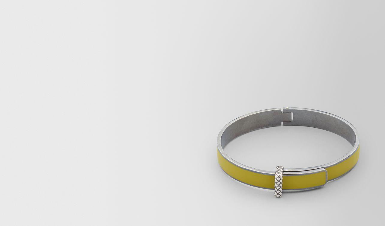 bracelet en argent oxydé/émail chamomile landing