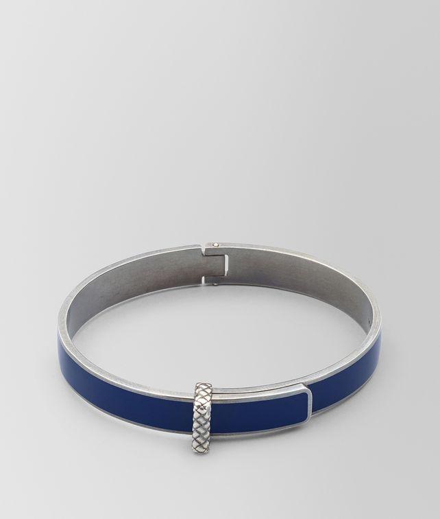 BOTTEGA VENETA ATLANTIC OXIDIZED SILVER/ENAMEL BRACELET Bracelet Woman fp