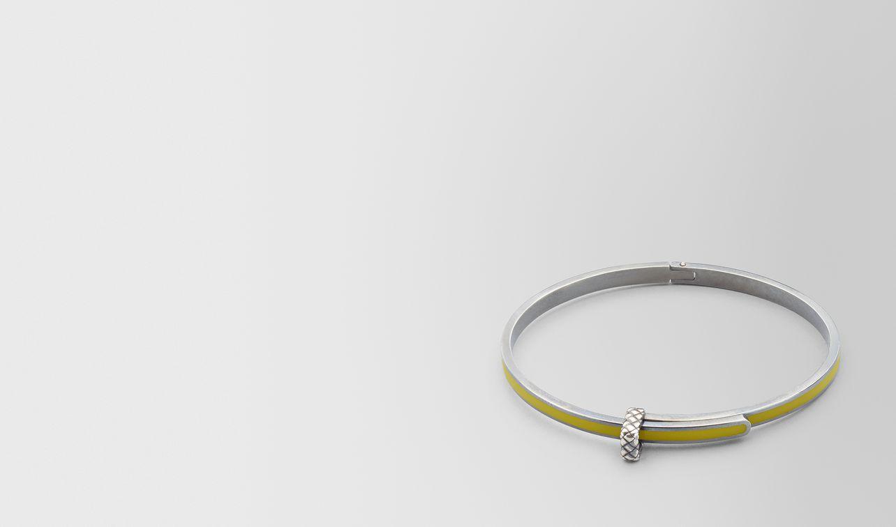 bracciale in argento ossidato e smalto chamomile landing