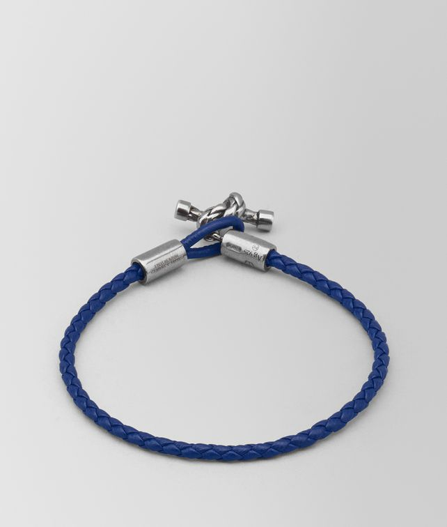 BOTTEGA VENETA ATLANTIC LEATHER/OXIDIZED SILVER BRACELET Bracelet [*** pickupInStoreShipping_info ***] fp